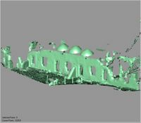 Point cloud of the west facade exterior of the Great Mosque in Kilwa Kisiwani, Tanzania