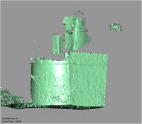 Point cloud of the exterior facade of the southwest tower of Gereza in Kilwa Kisiwani, Tanzania