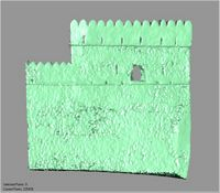 Point cloud of the south wall and southeast tower exterior of Gereza in Kilwa Kisiwani, Tanzania