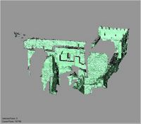 Point cloud of the east and southeast interiors of Gereza in Kilwa Kisiwani, Tanzania