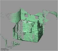 Point cloud of a room near the east wall and northeast tower of Gereza in Kilwa Kisiwani, Tanzania