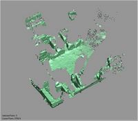 Point cloud of the interior upper level of the southeast tower of Gereza in Kilwa Kisiwani, Tanzania