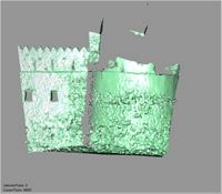 Point cloud of the lower southwest tower exterior of Gereza in Kilwa Kisiwani, Tanzania