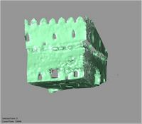 Point cloud of the southeast tower interior of Gereza in Kilwa Kisiwani, Tanzania