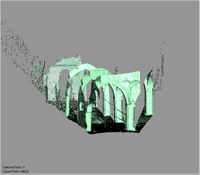 Point cloud of several arches in the Great Mosque in Kilwa Kisiwani, Tanzania