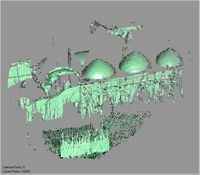 Point cloud of the northwest and west exterior facades of the Great Mosque in Kilwa Kisiwani, Tanzania