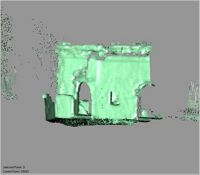 Point cloud of the old mosque doors of the Great Mosque in Kilwa Kisiwani, Tanzania