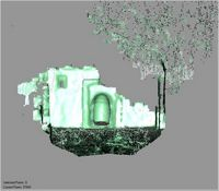 Point cloud of the old mosque mihrab of the Great Mosque in Kilwa Kisiwani, Tanzania