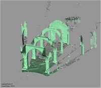 Point cloud of arches in the Great Mosque in Kilwa Kisiwani, Tanzania