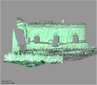 Point cloud of the east and northeast exterior entrances to the Great Mosque in Kilwa Kisiwani, Tanzania
