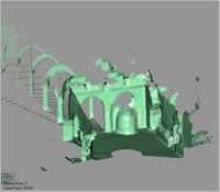 Point cloud of the interior of the Great Mosque in Kilwa Kisiwani, Tanzania