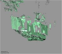 Point cloud of the east side of the Great Mosque in Kilwa Kisiwani, Tanzania