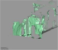 Point cloud of mosque entrances from the north ablutions in the Great Mosque in Kilwa Kisiwani, Tanzania