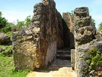 Image of an entrance to the northwest ablutions of the Great Mosque in Kilwa Kisiwani, Tanzania