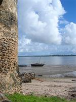 Image of the ocean from the northeast tower of the Gereza in Kilwa Kisiwani, Tanzania