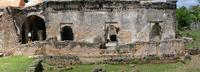 Panoramic image of the east side of the Great Mosque in Kilwa Kisiwani, Tanzania