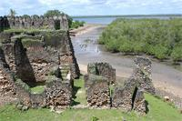 Photogrammetric image of the western part and courtyard of the Gereza in Kilwa Kisiwani, Tanzania