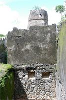 Photogrammetric image of the southeast corner, southwest tower, and room E of the Gereza in Kilwa Kisiwani, Tanzania