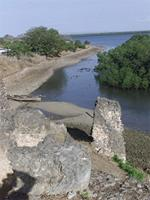 Photogrammetric image of the northwest side of the Gereza in Kilwa Kisiwani, Tanzania
