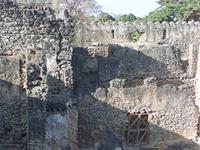 Photogrammetric image of the south side and southeast corner of the Gereza in Kilwa Kisiwani, Tanzania