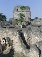 Photogrammetric image of the southwest corner of the Gereza in Kilwa Kisiwani, Tanzania