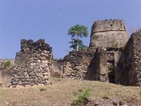 Photogrammetric image of the southwest tower of the Gereza in Kilwa Kisiwani, Tanzania