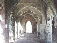 Photogrammetric image inside the large extension of the Great Mosque in Kilwa Kisiwani, Tanzania