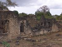 Photogrammetric image of the west side of the Great Mosque in Kilwa Kisiwani, Tanzania