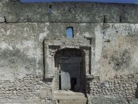 Stereoscopic photograph of the eastern part of the Great Mosque in Kilwa Kisiwani, Tanzania