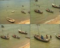 Video of people and their boats from the northeast tower of the Gereza in Kilwa Kisiwani, Tanzania