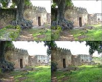 Video of the east side of the Great Mosque in Kilwa Kisiwani, Tanzania