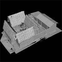 High resolution model of the Besease Temple in Ejisu, Ghana, edited version