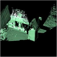 Point cloud of the main entrance and northern part of Besease Shrine in Ejisu, Ghana