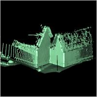Point cloud of the northern part and eastern part of Besease Shrine in Ejisu, Ghana