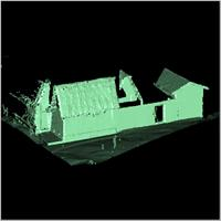 Point cloud of the western part and main entrance of Besease Temple in Ejisu, Ghana