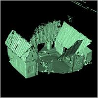 Point cloud of the southern part of Besease Shrine in Ejisu, Ghana