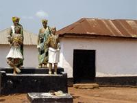 Image of the front fascade of Patakro near Kumasi, Ghana