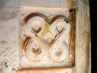 Image of a relief on the wall of the small shrine in the Besease Shrine near Kumasi, Ghana