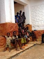 Image of children in the Patakro Temple, Ghana