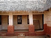 Image of the southern part of the Besease Shrine in Ejisu, Ghana