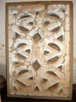 Image of a window grill in the Besease Temple in Ejisu outside of Kumasi, Ghana