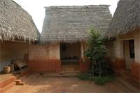 Photogrammetric image of the roof and eastern part of Besease Shrine in Ejisu, Ghana