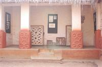 Stereoscopic photograph of the western part of Besease Shrine in Ejisu, Ghana