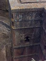 Photogrammetric image of the northern part of Bet Giorgis in Lalibela, Ethiopia