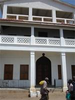 Image of private house on the sea front in Lamu Town, Kenya