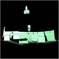 Point cloud of the northern part and main tower of Djingereyber in Timbuktu, Mali