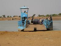 Image of a ferry on the Niger River at Timbuktu, Mali
