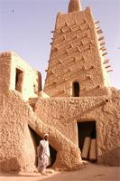 Photogrammetric image of the main tower and open courtyard of Djingereyber in Timbuktu, Mali