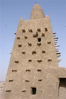 Photogrammetric image of the main tower of Djingereyber in Timbuktu, Mali