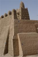 Photogrammetric image of the eastern part, northern part and main tower of Djingereyber in Timbuktu, Mali